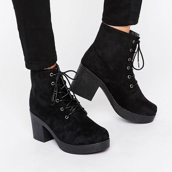 7631a00f445 ASOS Truffle Collection Lace Up Chunky Boot, 9